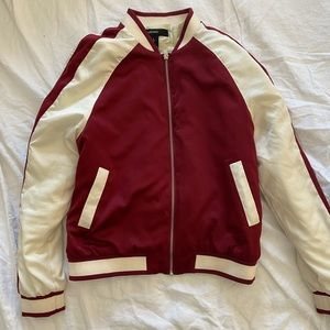 Forever 21 Red Super Cool Track Jacket